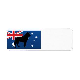 australian cattle dog silo australia flag.png return address label