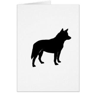 australian cattle dog silo greeting card