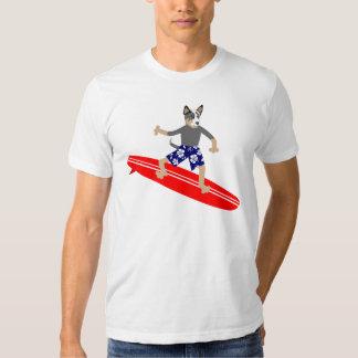 Australian Cattle Dog Surfer Tshirt