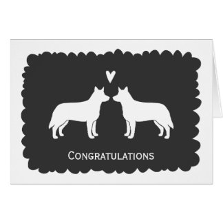 Australian Cattle Dogs Wedding Congratulations Card