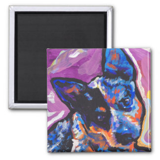 australian cattle pop dog art magnet