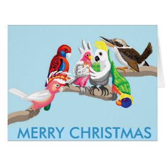 Australian Christmas birds Big Greeting Card