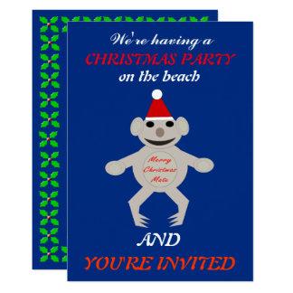 Australian Christmas Koala Bear Custom Invites