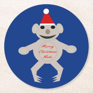 Australian Christmas Koala Bear Paper Coasters Round Paper Coaster