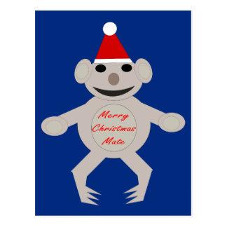 Australian Christmas Koala Bear Postcard
