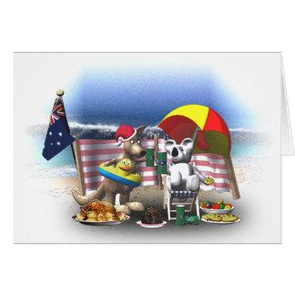 Australian Christmas on the beach Greeting Card