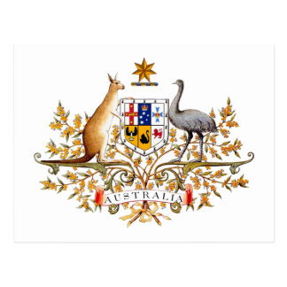 Australian Coat of Arms Post Card