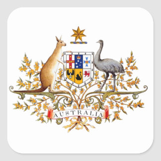 australian coat of arms square sticker