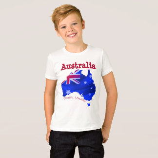 Australian continent with flag T-Shirt