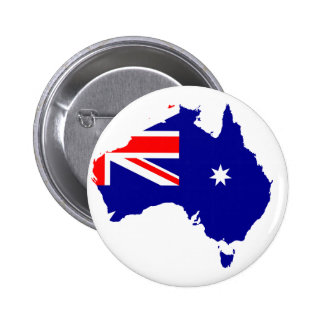 Australian country 6 cm round badge