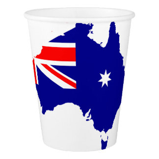 Australian country flag paper cup