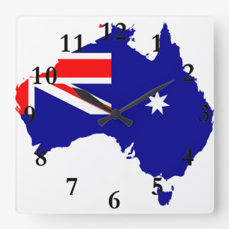 Australian country flag square wall clock