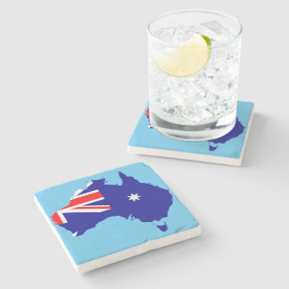 Australian country flag stone coaster