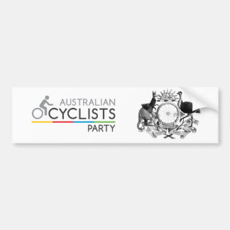 Australian Cyclists Party Bumper Sticker 2