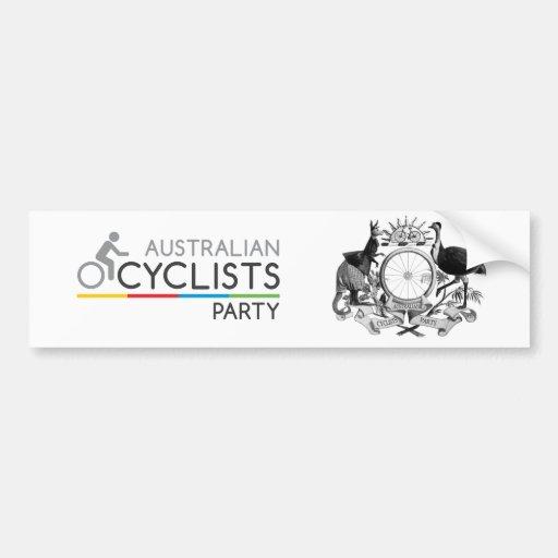 Australian Cyclists Party Bumper Sticker 2