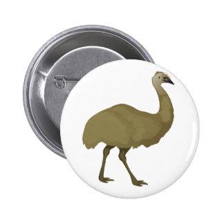 Australian Emu Bird 6 Cm Round Badge