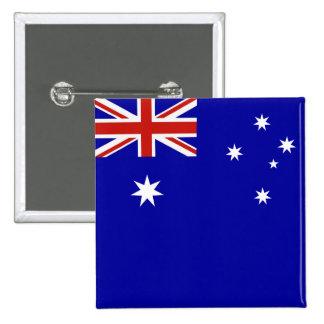 Australian flag 15 cm square badge