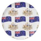 Australian Flag and Crest Plate