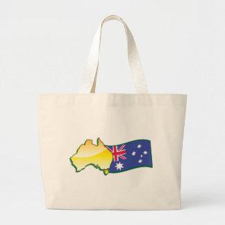 Australian flag and map aussie canvas bags