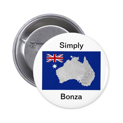 Australian Flag and Silhouette Button Badge