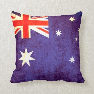Australian flag antiqued pillow cushion