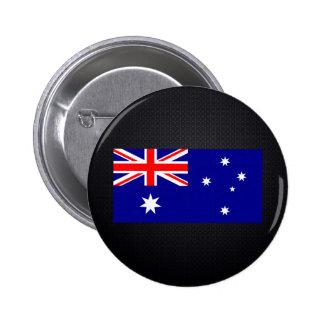Australian flag 6 cm round badge