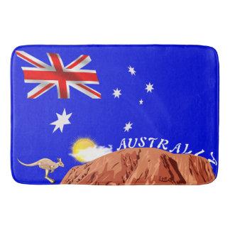 Australian flag bath mat