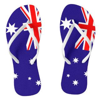 Australian flag beach flip flops for men and women
