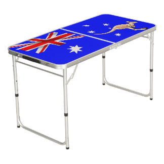 Australian flag beer pong table