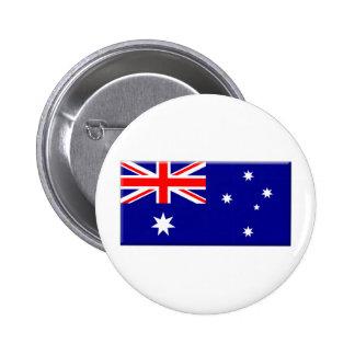 Australian Flag bevelled edge 6 Cm Round Badge