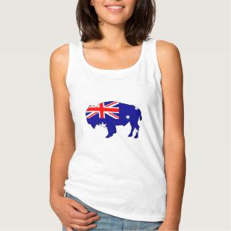 Australian Flag - Bison Singlet