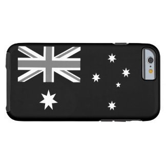 Australian Flag Black And White Tough iPhone 6 Case
