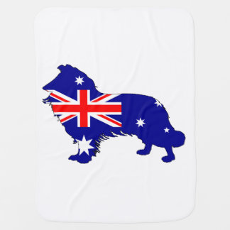 Australian Flag - Border Collie Baby Blanket