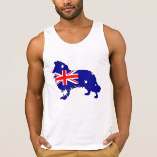 Australian Flag - Border Collie Singlet