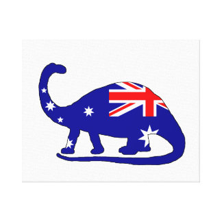 Australian Flag - Brontosaurus Canvas Print