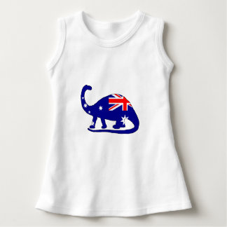 Australian Flag - Brontosaurus Dress