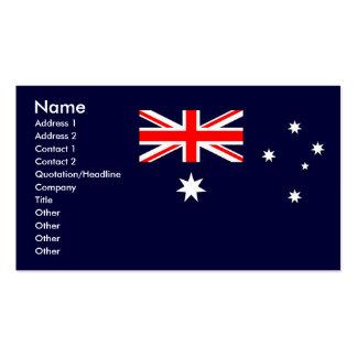 Australian Flag Pack Of Standard Business Cards