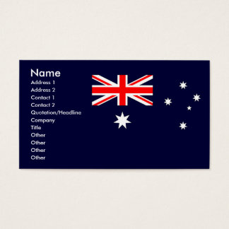 Australian Flag Business Card