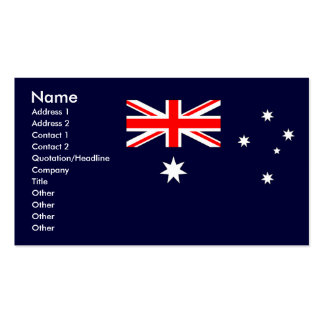 Australian Flag Business Card Template