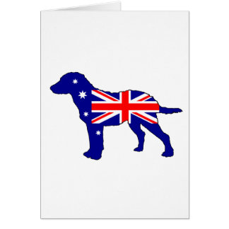 Australian Flag - Chesapeake Bay Retriever Card