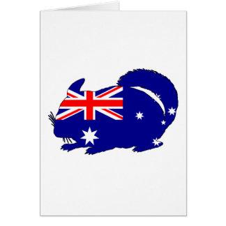 Australian Flag - Chinchilla Card