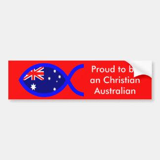 Australian Flag Christian Fish Symbol Bumper Sticker