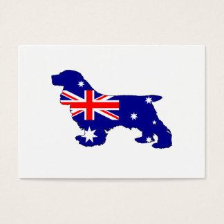 Australian Flag - Cocker Spaniel Business Card