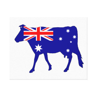 Australian Flag - Cow Canvas Print
