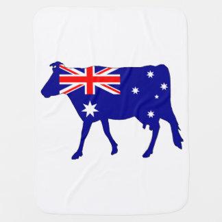 Australian Flag - Cow Swaddle Blankets