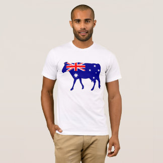 Australian Flag - Cow T-Shirt