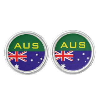 Australian flag cufflinks | Australia Day monogram