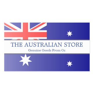 Australian Flag Customizable Business Card