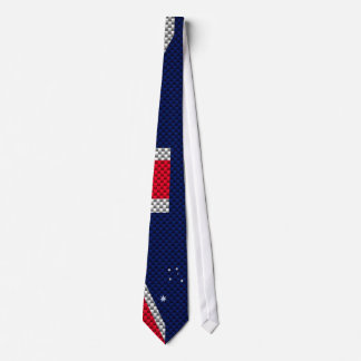 Australian Flag Design Carbon Fiber Chrome Style Tie