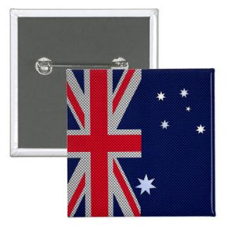 Australian Flag Design Carbon Fiber Style 15 Cm Square Badge
